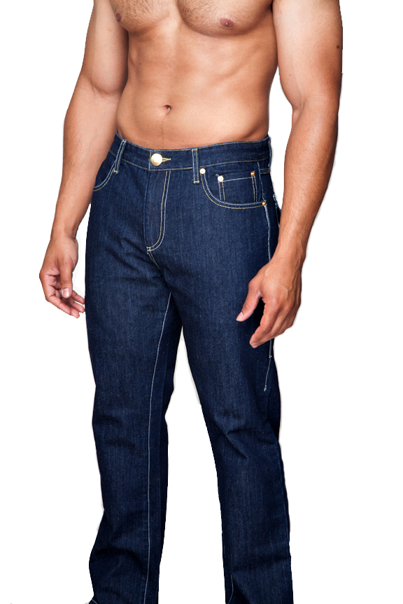Men Jeans with Crown Pocket